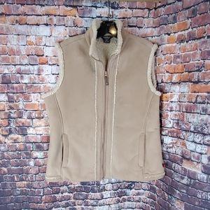Woolrich Hazlenut Tan Sherpa-Lined Vest Size XL